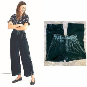 NWT Madewell Green Velvet Trousers